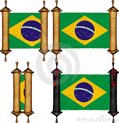 Scroll with the flag from Brazil