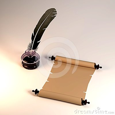 quill pen and scroll - photo #41