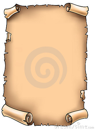 Scroll, vector illustration