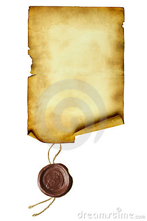 Free Scroll With Wax Seal Royalty Free Stock Images - 13288729