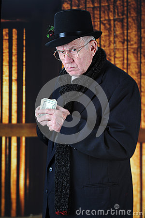 Free Scrooge And His Money Stock Photography - 45232212