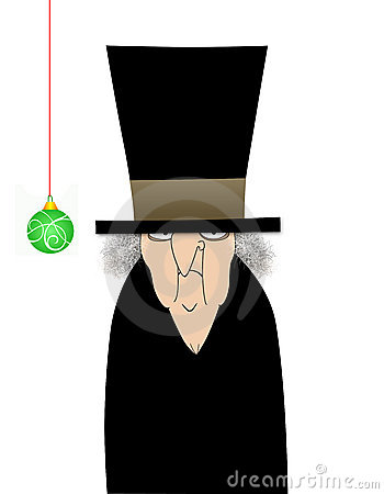 Scrooge Isolated on White