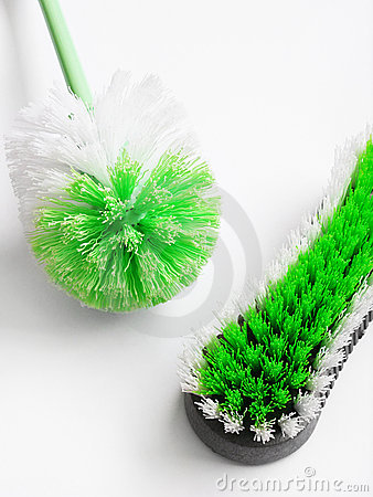 Scrubbing cleaning brushes
