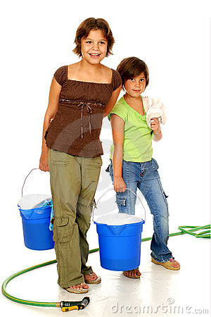 Free Scrubbing Sisters Stock Photos - 3203263