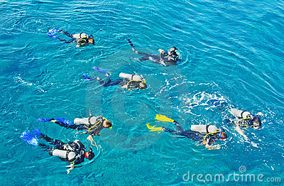 Scuba courses bring tourism dollars to Australia Editorial Stock Photo