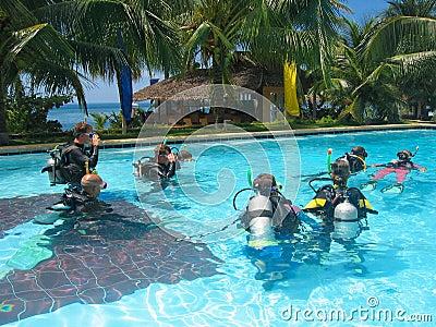 Scuba dive class adventure