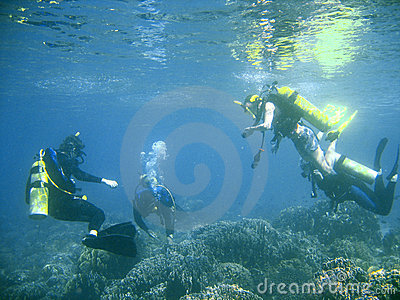 Scuba diver group lesson