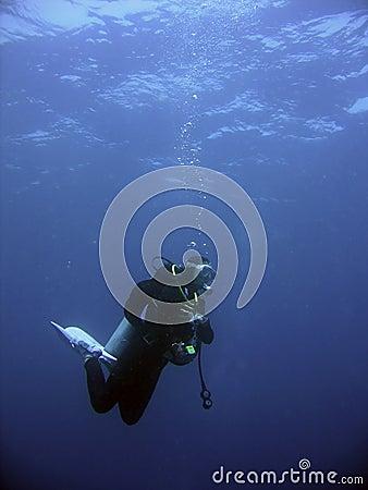 Scuba Diver safety stop