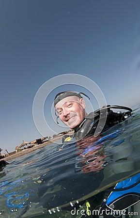Scuba diver on surface