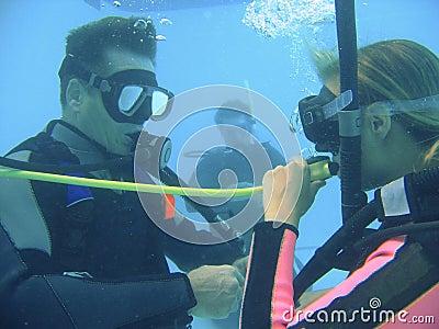 Scuba diving class