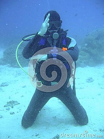 Scuba diving teacher
