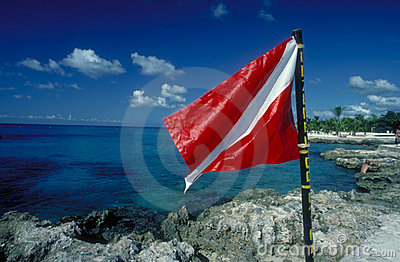 Scuba Flag Stock Photo - Image: 45240