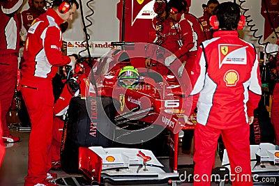 Scuderia Ferrari F1, Felipe Massa, 2012 Editorial Stock Image