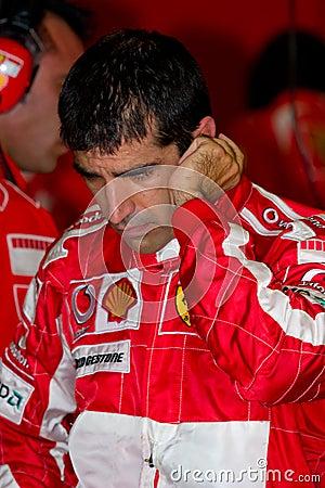 Scuderia Ferrari F1, Marc Gene, 2006 Editorial Stock Photo