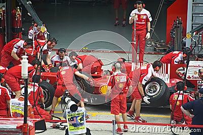 Scuderia Ferrari Marlboro Formula One Racing Team Editorial Stock Image