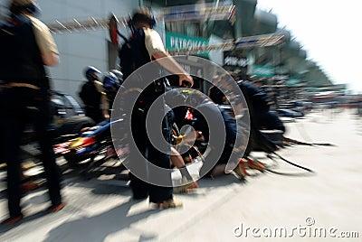 Scuderia Toro Rosso STR2 Team  Editorial Photo