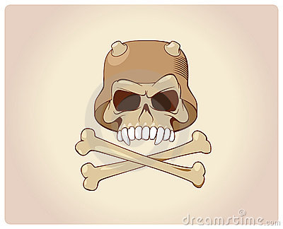 Scull with bones