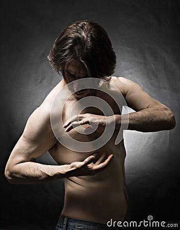 Sculpted bodybuilder