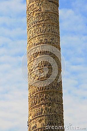 Sculpted Roman column