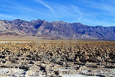 USA, California: Death Valley - Sculpted Sediments