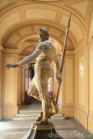 Sculptor of Neptune, god of the sea