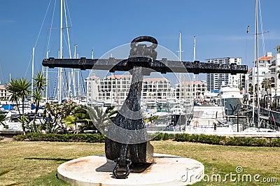 Sculpture of an anchor
