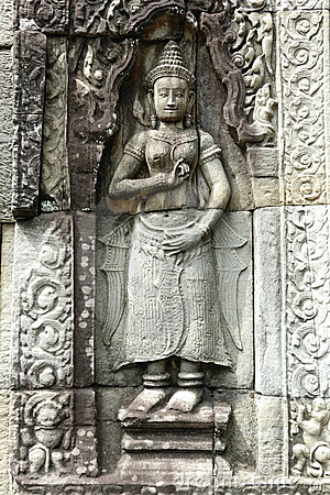 Sculpture in Angkor Wat, Cambodia
