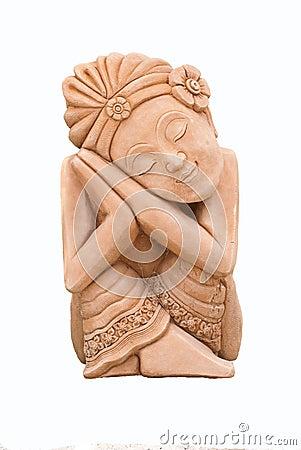sculpture of an asian lady