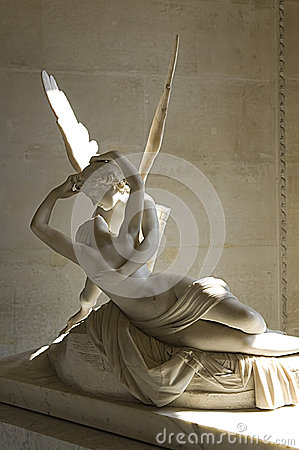 Sculpture Cupid and Psyche by Antonio Canova Editorial Stock Photo