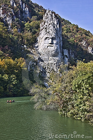 Sculpture of Decebal on the Danube