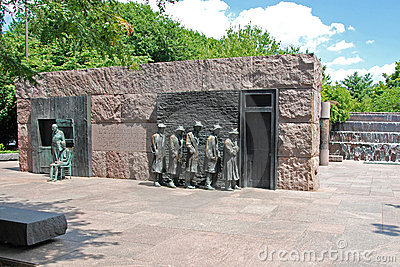 Sculpture en faim de Franklin Delano Roosevelt je Image stock éditorial