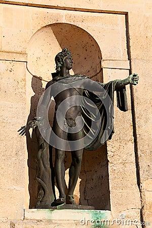 Sculpture in the Fontainebleau castle