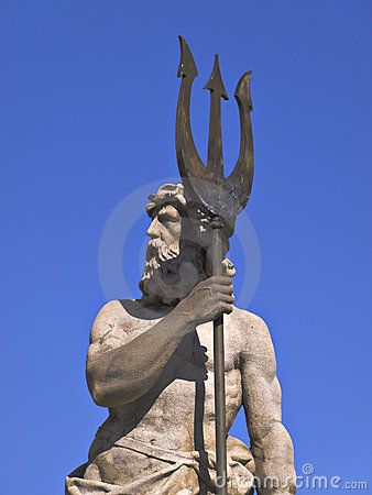 Sculpture of god Neptune or Poseison