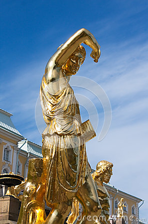 Sculpture of Grand Cascade Fountains in Peterhof