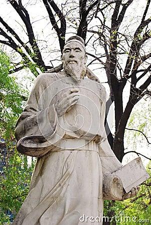 Sculpture of guoshoujing