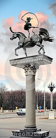 Free Sculpture `Gymnast On A Horse` In Minsk, Belarus Stock Image - 106354381