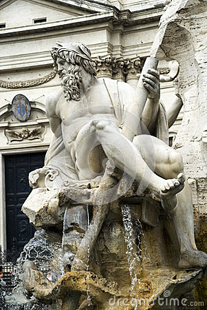 Free Sculpture In Piazza Navone, Rome, Italy Royalty Free Stock Photography - 31403727