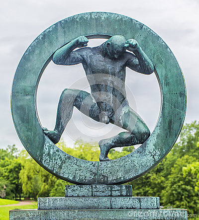 Free Sculpture In Vigeland Park Oslo. Norway. Royalty Free Stock Photos - 59256078
