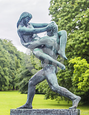Free Sculpture In Vigeland Park Oslo. Norway. Royalty Free Stock Photos - 59256158