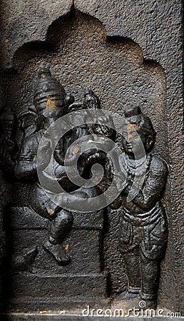 Sculpture of indian god ganesh