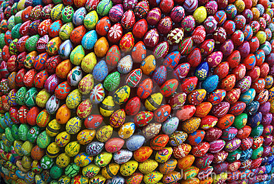 Sculpture in Kiev, which consists of 3000 eggs. Editorial Stock Photo