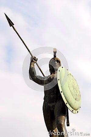 The sculpture of King Leonidas