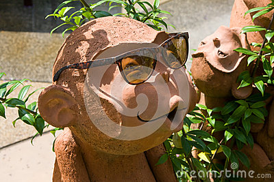 Sculpture of a monkey