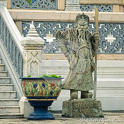 Sculpture of mythological guardian