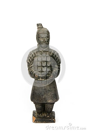 Free Sculpture Of A Chinese Soldier - Isolated Stock Photography - 42866192