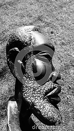 Free Sculpture Of An African Man Stock Photos - 52737363