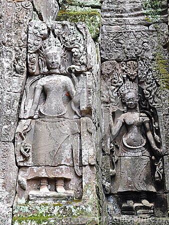 Free Sculpture Of Apsara In Bayon Temple, Cambodia Royalty Free Stock Photo - 26309945