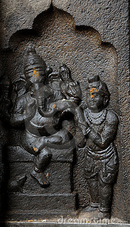 Free Sculpture Of Indian God Ganesh Stock Images - 21861504