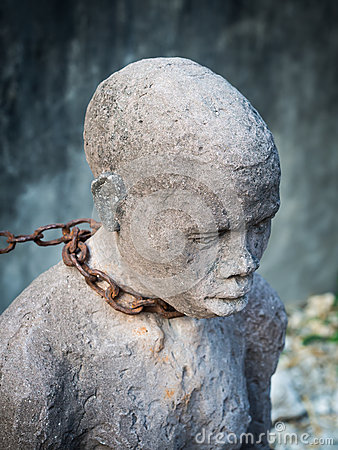Free Sculpture Of Slaves In Stone Town, Zanzibar Royalty Free Stock Photography - 69470847