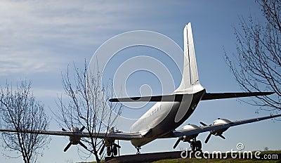 Sculpture of a plane